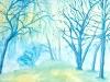 Joh. Huber, Bäume im Nebel